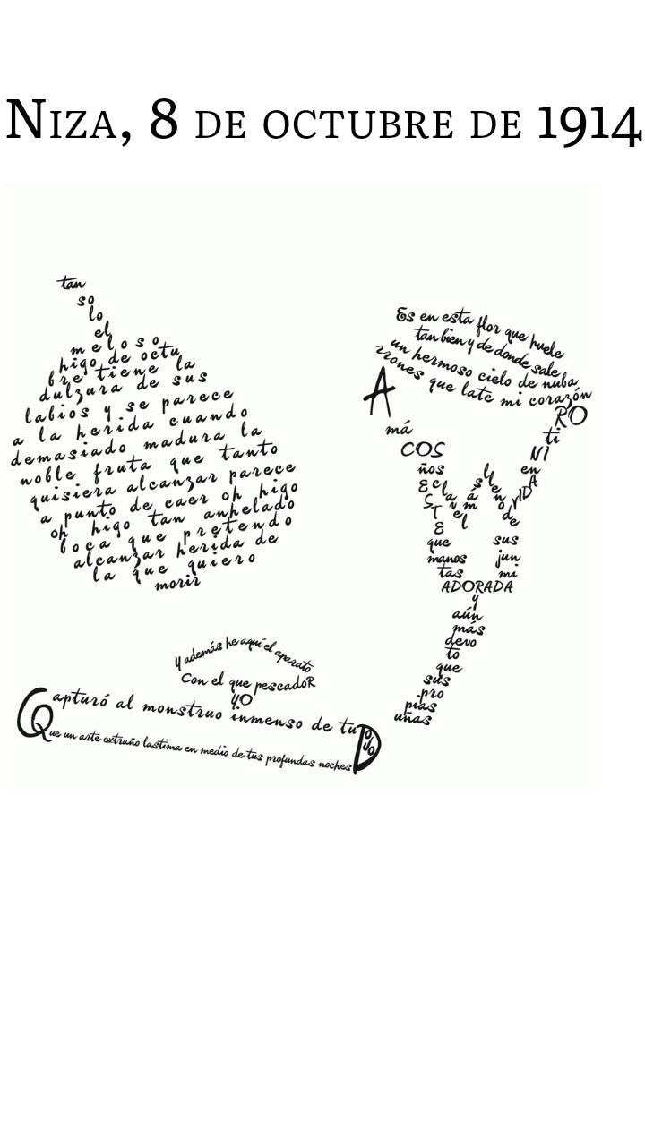 Resultado de imagen de caligrama apollinaire