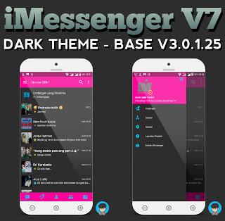 BBM IMessenger v7 Dark Theme Unclone v3.0.1.2.5 Apk Terbaru