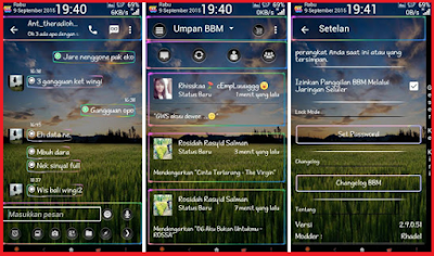 BBM MR Neon Transparent Update v 1.1 Base v2.9.0.51 APK