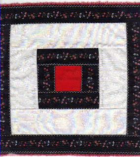 Using border prints adds interest to the quilt block