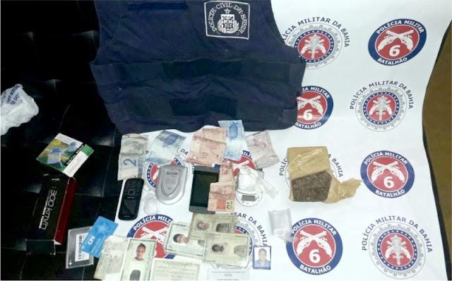 PM e PC prendem traficantes em Queimadas-BA.
