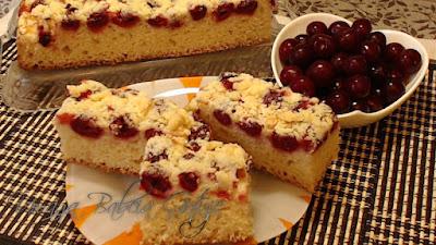 ciasto z wiśniami drożdżowe
