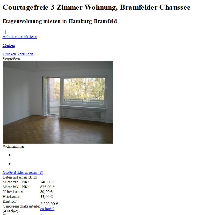 Courtagefreie 3 zimmer for 3 zimmer wohnung delmenhorst