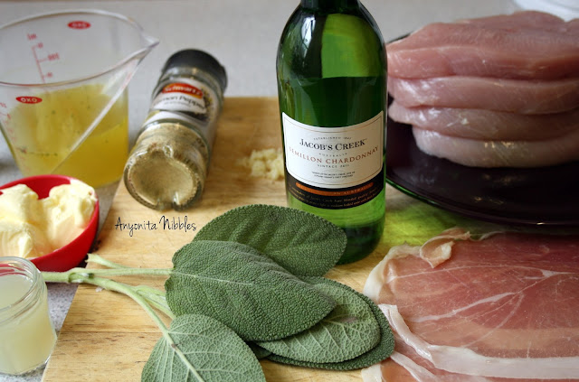 Ingredients needed for Turkey Saltimbocca from www.anyonita-nibbles.com