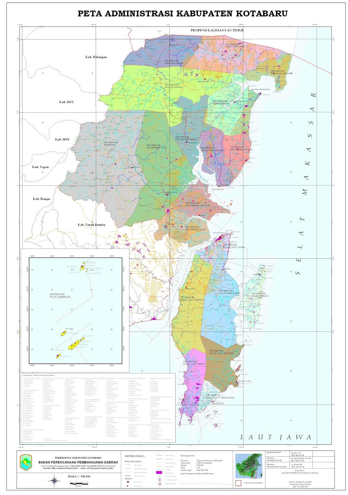 Peta Kabupaten Kotabaru