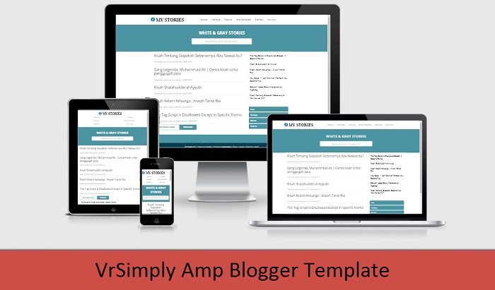 Free Download Simple Amp Blogger Template