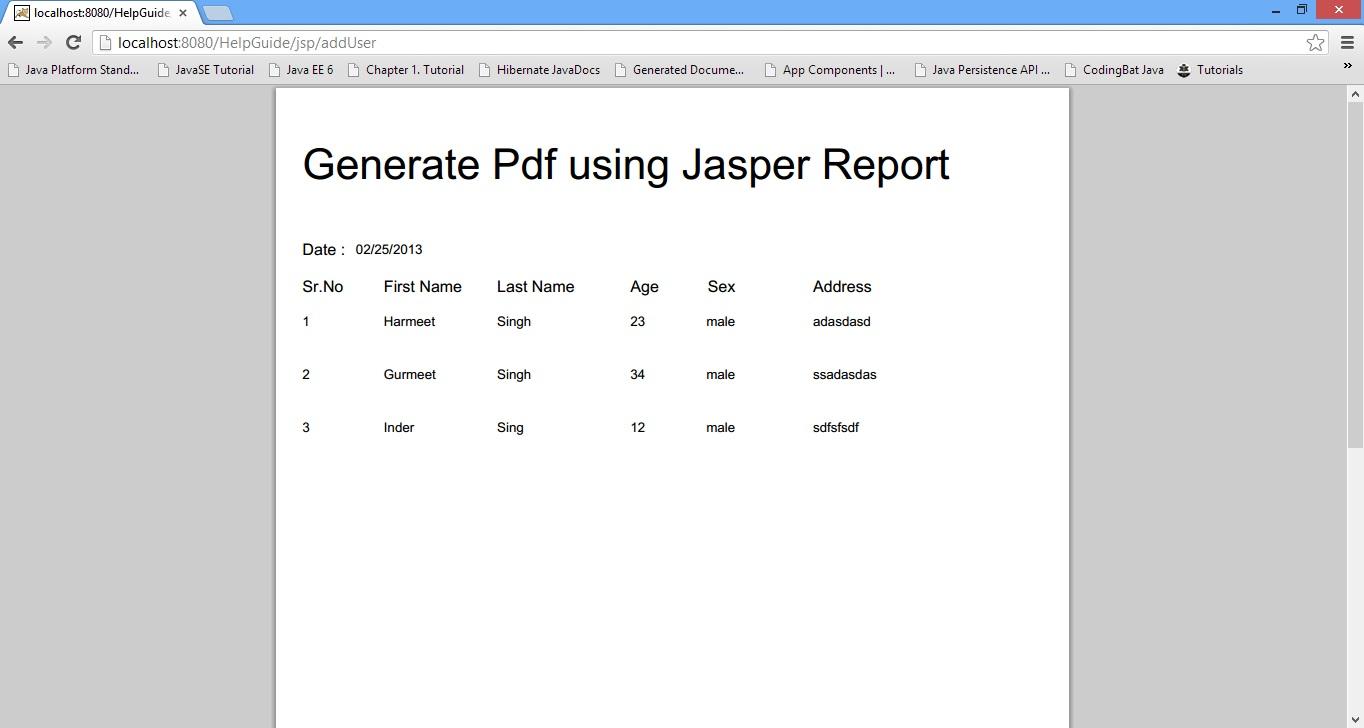 Tutorial pdf report jasper