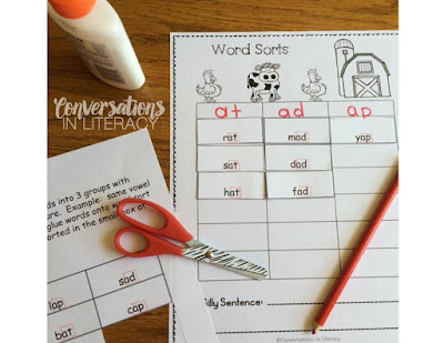 using word sorts for cvc activities