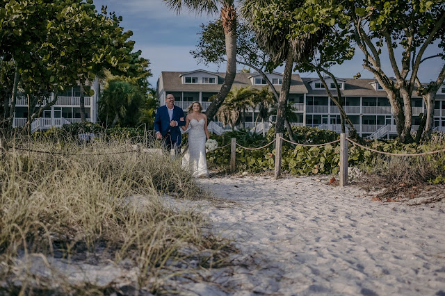 Beach at wedding on sanibel island