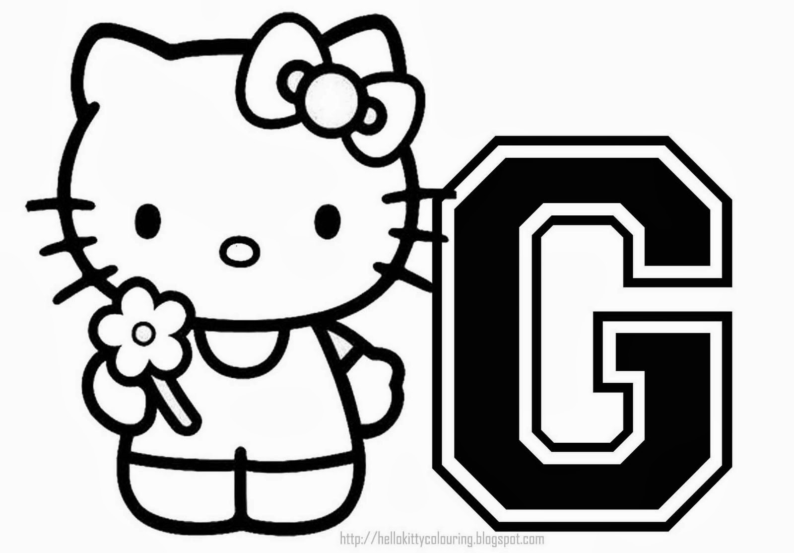 Alfabeto De Hello Kitty Para Colorear Oh My Alfabetos