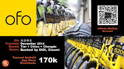 """chinese based Ofo bike sharing service to start its US business"""""""