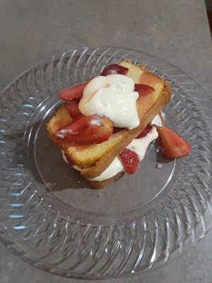 What do you do on your Get Together?-A Little Bit of Something- had fun cooking with the girls on our get together.Some Strawberry-vanilla dessert.