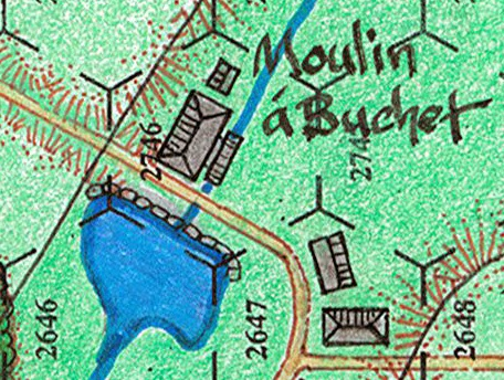 Thyle Watermill, a.k.a Moulin á Bouchet, on the Incredible Courage boargame map
