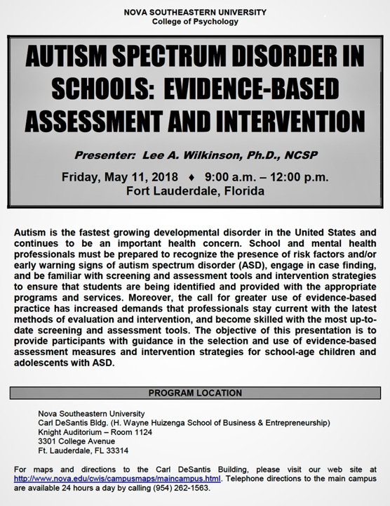 Best Practice Autism: NASP Approved Continuing Education Workshop
