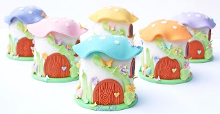 Toadstool House Cakes