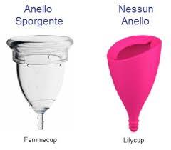 Esistono coppette mestruali con anelli più o meno tonici e più o meno sporgenti