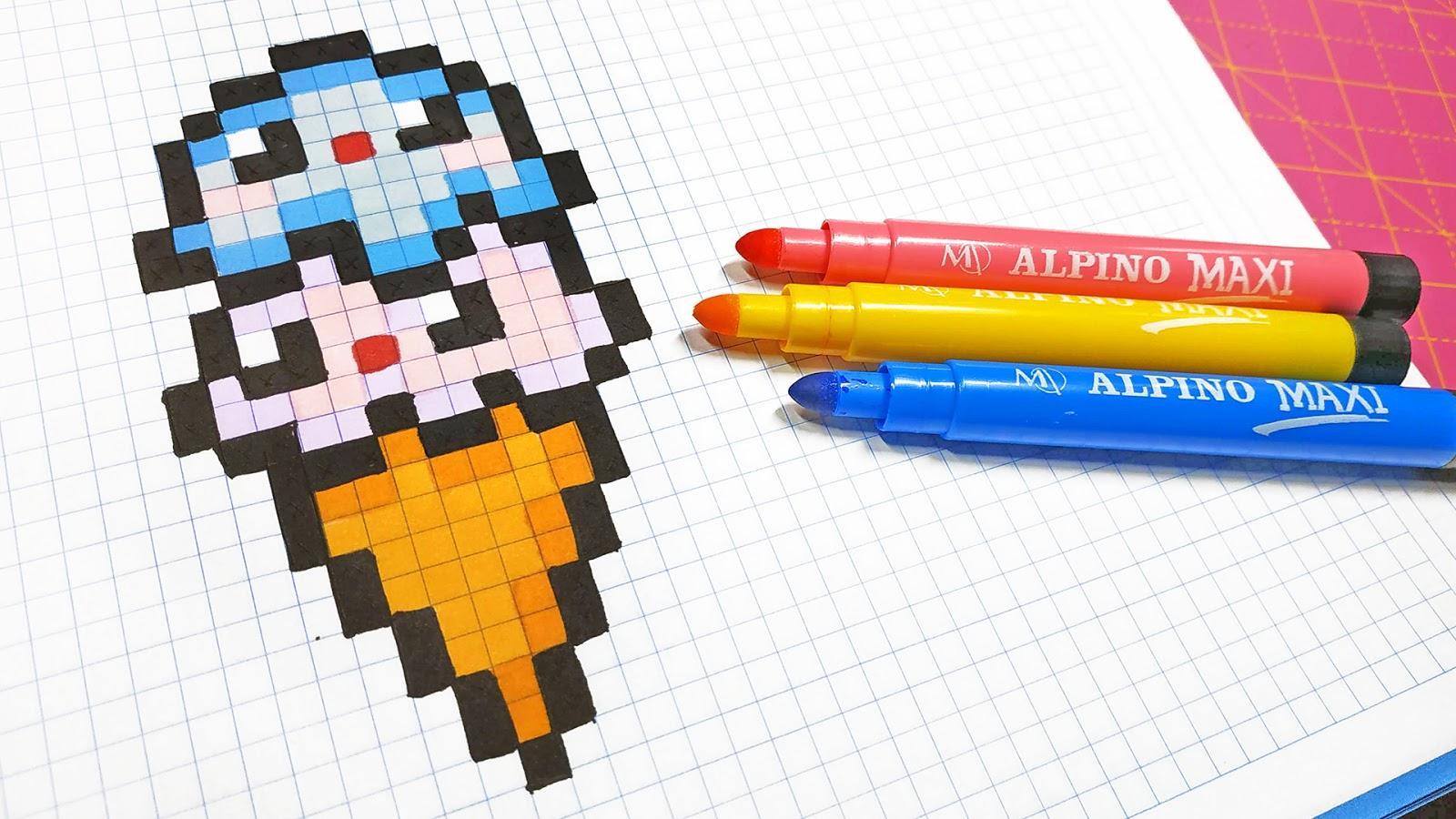 Handmade Pixel Art How To Draw A Kawaii Ice Cream Pixelart