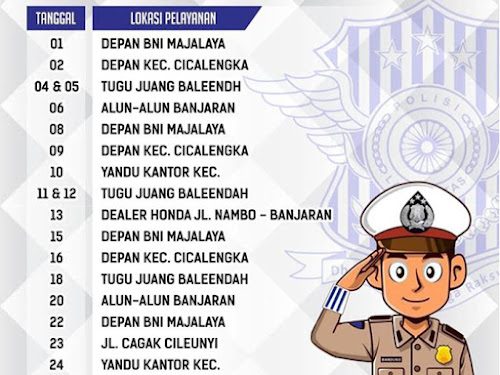 Jadwal SIM Keliling Polres Bandung Bulan April 2019