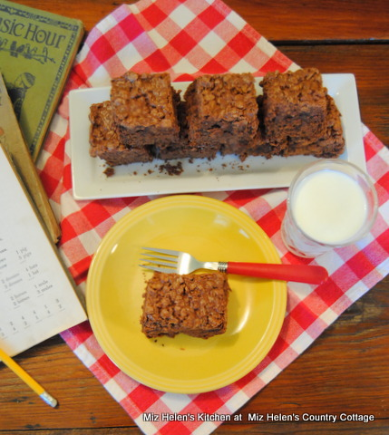 Crunchy Top Brownies at Miz Helen's Country Cottage