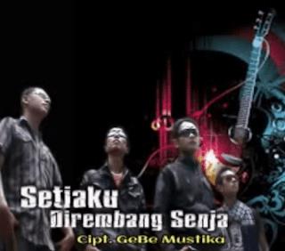 Lirik Lagu Setiaku Di rembang Senja - GeBe Mustika