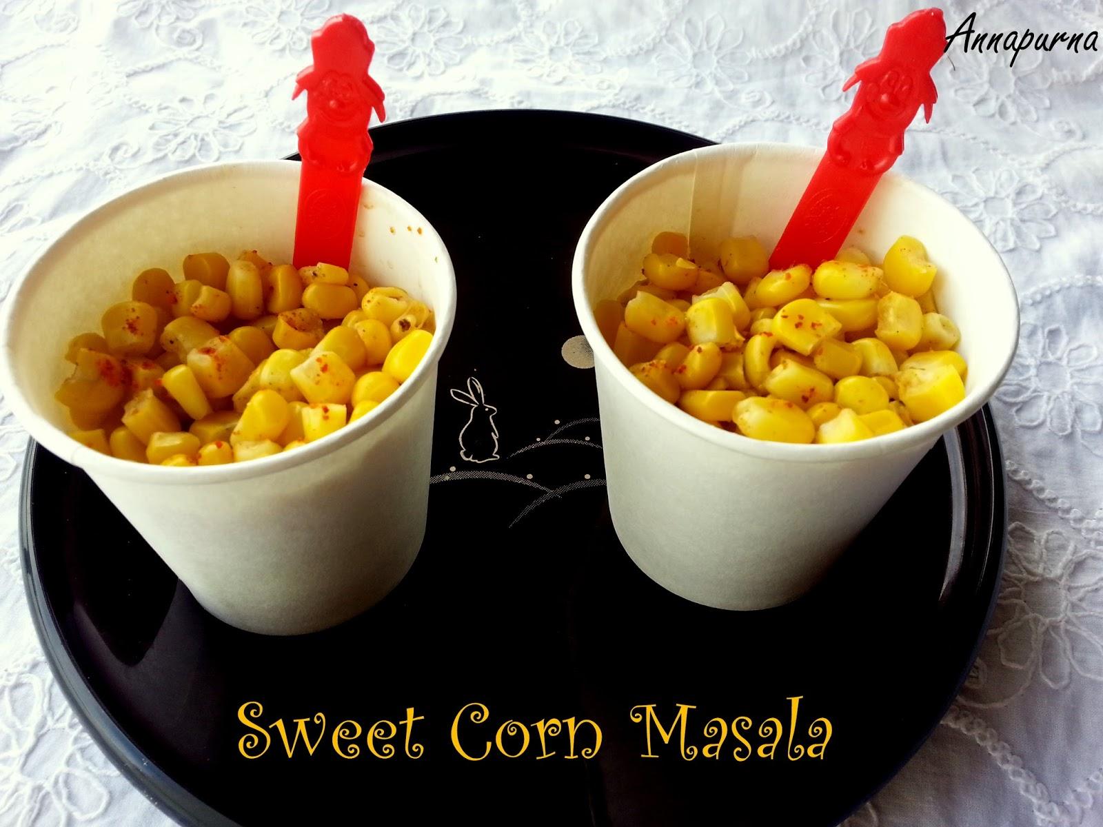 annapurna masala corn sweet corn chaat recipe