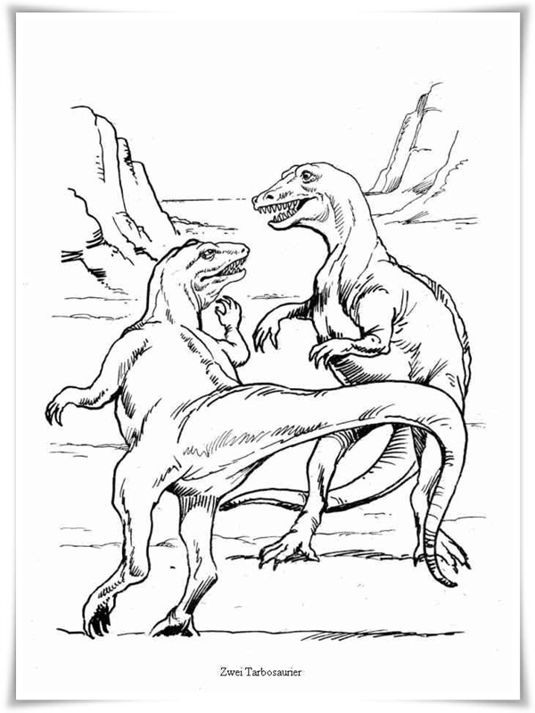 dinosaur fight coloring pages - photo#14