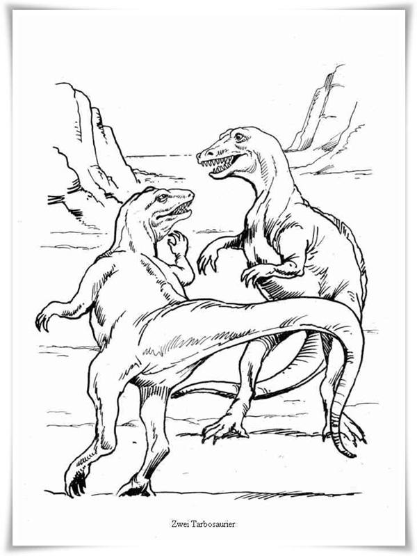 Ausmalbilder zum Ausdrucken: Ausmalbilder Dinosaurier