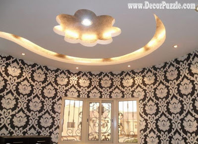 modern plasterboard ceiling design, suspended ceiling lighting ideas 2019