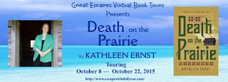 http://www.escapewithdollycas.com/great-escapes-virtual-book-tours/books-currently-on-tour/death-on-the-prairie-by-kathleen-ernst/