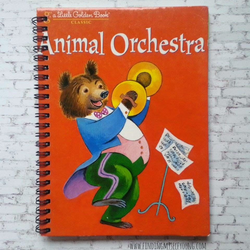 Little Golden Book animal orchestra diary
