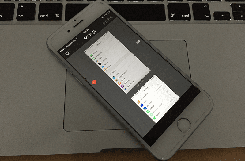combine screenshots on iphone