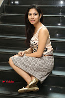 Actress Vanditha Stills in Short Dress at Kesava Movie Success Meet .COM 0280.JPG