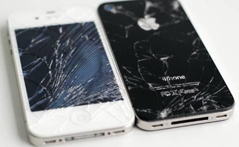 Problemas mais comuns em iphones sao tela quebrada e acidente com liquido