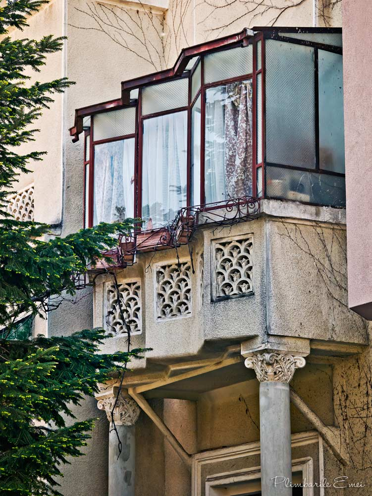 Bucuresti arhitectura Dorobanti Floreasca balcon Art Deco