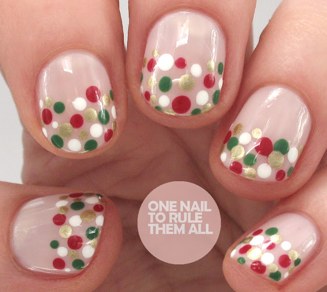 One Nail To Rule Them All Christmas Polka Dots