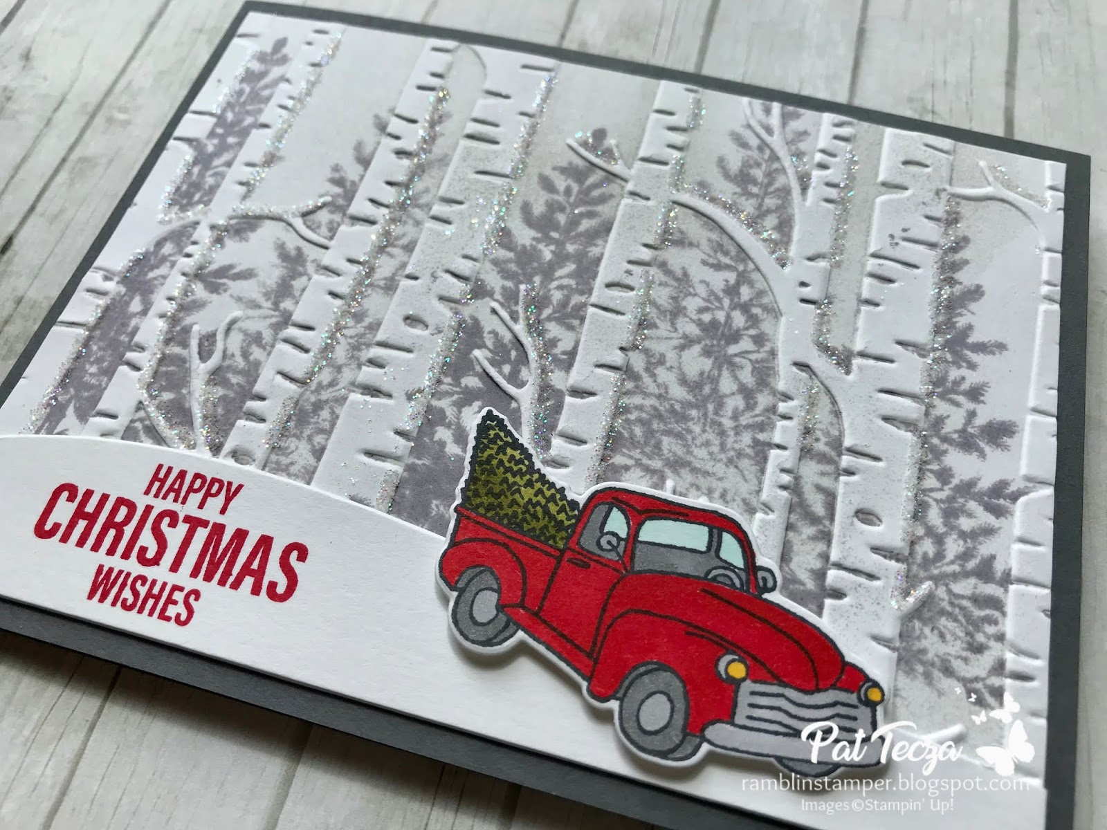 Build Your Own Vintage Pickup Truck Cutting and Embossing Dies Side Profile