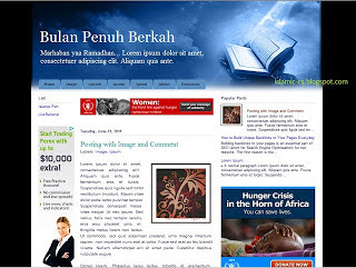 Download Raamadhan Template Blogger