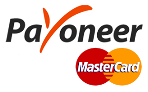 Apply for a free Payoneer Mastercard to your home address.