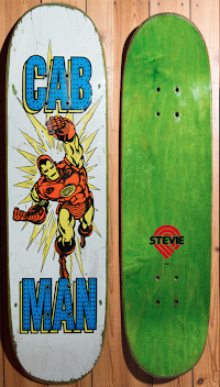 "Seldom Seen Deck Art: Steve Caballero ""Cab Man"" Deck Inspired by Ironman"