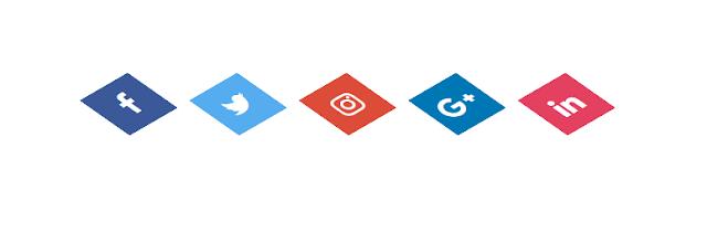 CSS 3D Social Media Icon Hover Effects menggunakan