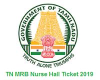 TN MRB Nurse Hall Ticket 2019