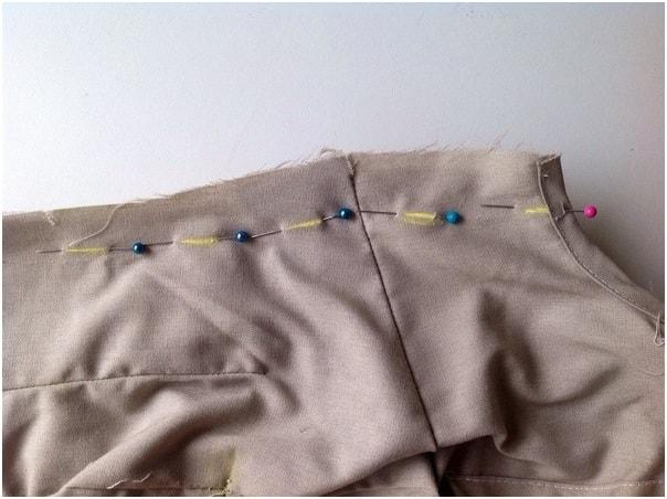 Pin markings on garment