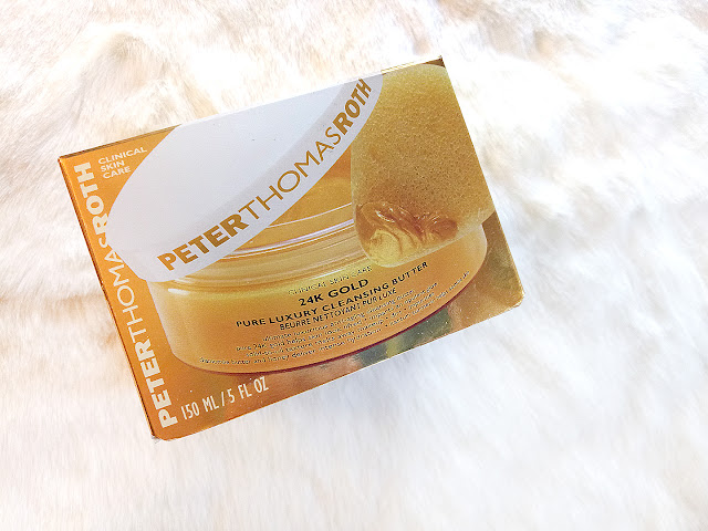PeterThomasRoth 24K GOLD Pure Luxury Cleansing Butter, gold mask, 24k gold skincare, 24k gold range, cleopatra mask, peter thomas roth, cleansing oil, cleansing balm, red alice rao, maliha rao, beauty, skincare blog, top beauty blog of pakistan, makeup, makeup artists, redalicerao, korean skincare