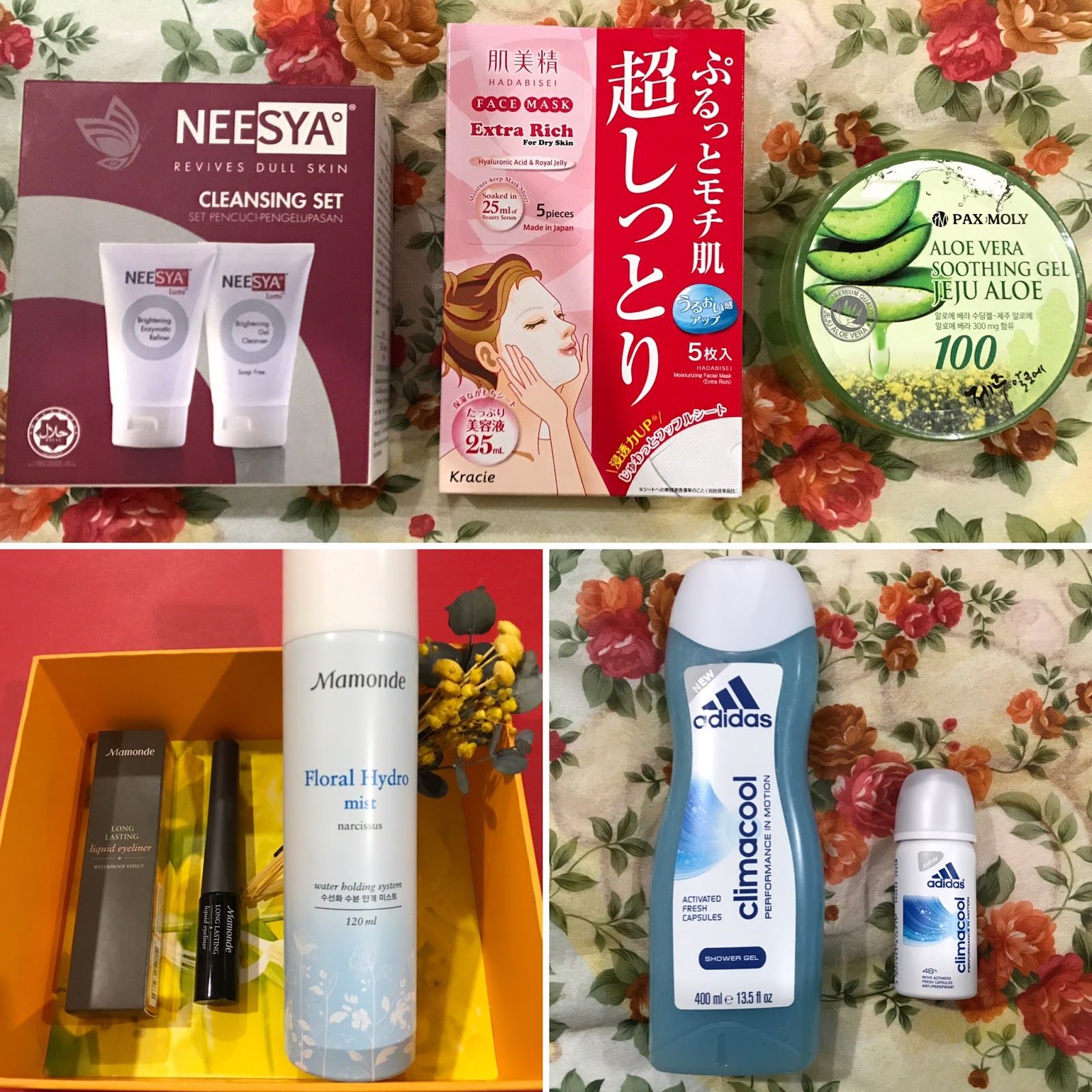 Pamper Your Skin and Body With Better Choice of Beauty Care Products from Neesya, Hadabisei, Pax Moly, Mamonde and Adidas