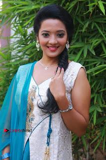 Tamil Actress Koushika Stills in White Salwar Kameez at Inayathalam Tamil Movie Audio Launch  0001.jpg