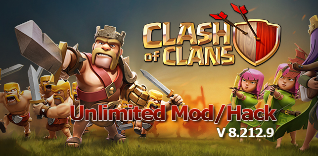 Download Clash of Clans 8.212.9 ApkTerbaru + Mod/Hack Unlimited  terbaru 2016