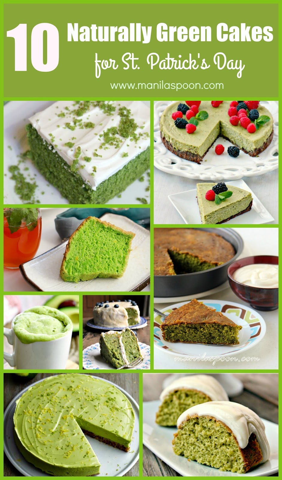 10 Naturally Green Cakes for St. Patrick's Day