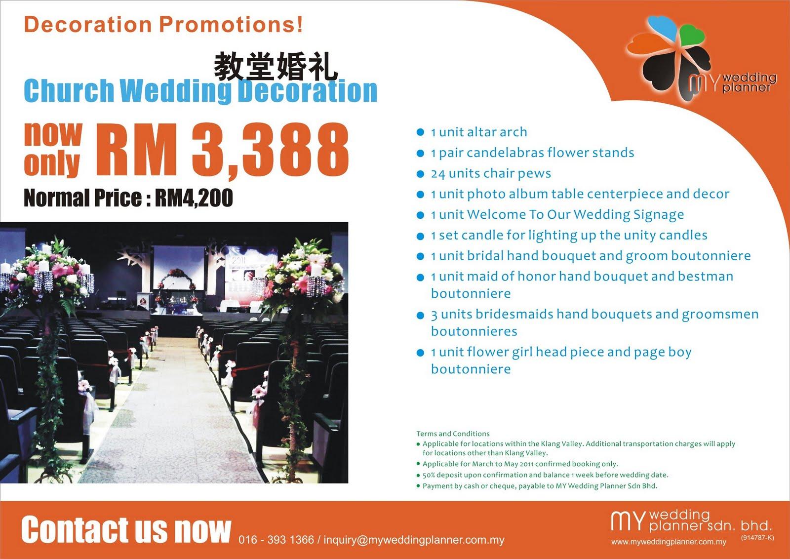 Wedding Decoration Promotion 2011 A Wedding Planner Malaysia Blog