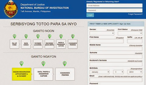 NBI Clearance online application implemented, no more walk-ins!