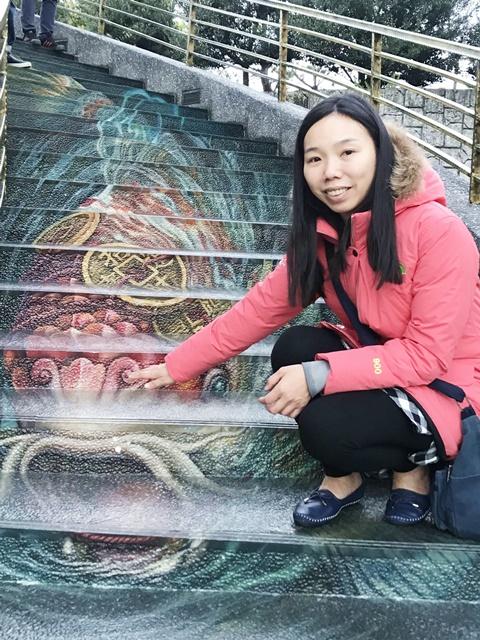 紫南宮~南投竹山景點、3D彩繪樓梯